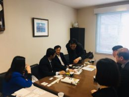 Conference with Senjido Management in Japan